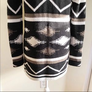 BB Dakota Sweaters - BB Dakota Tribal Wool Open Front Cardigan